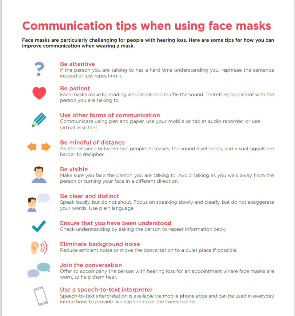 Dominick Servedio Audiologist Tips on Communicating While Wearing a Mask